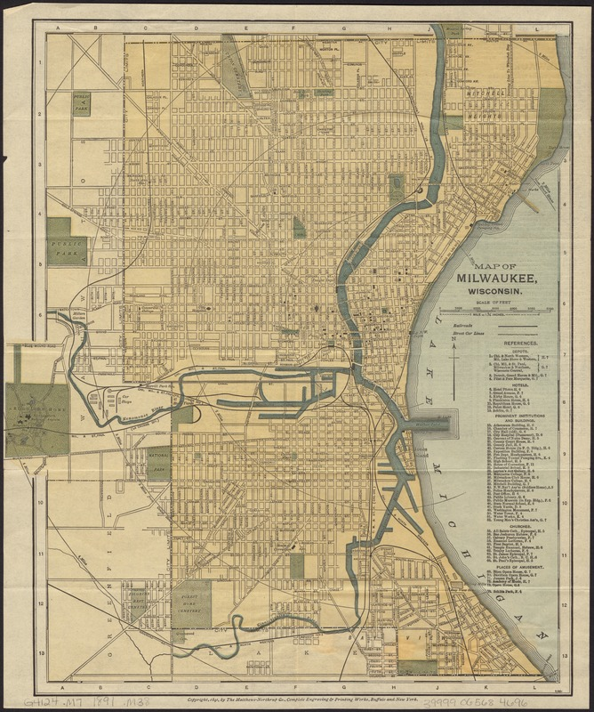 Map of Milwaukee, Wisconsin