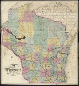 Chapman's new sectional map of Wisconsin