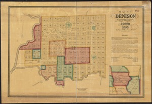 Map of Denison, Crawford County, Iowa