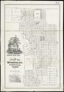 Plan of Humboldt, Humboldt County, Iowa