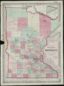 Colton's township map of the state of Minnesota