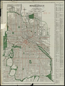 Hudson's map of Minneapolis