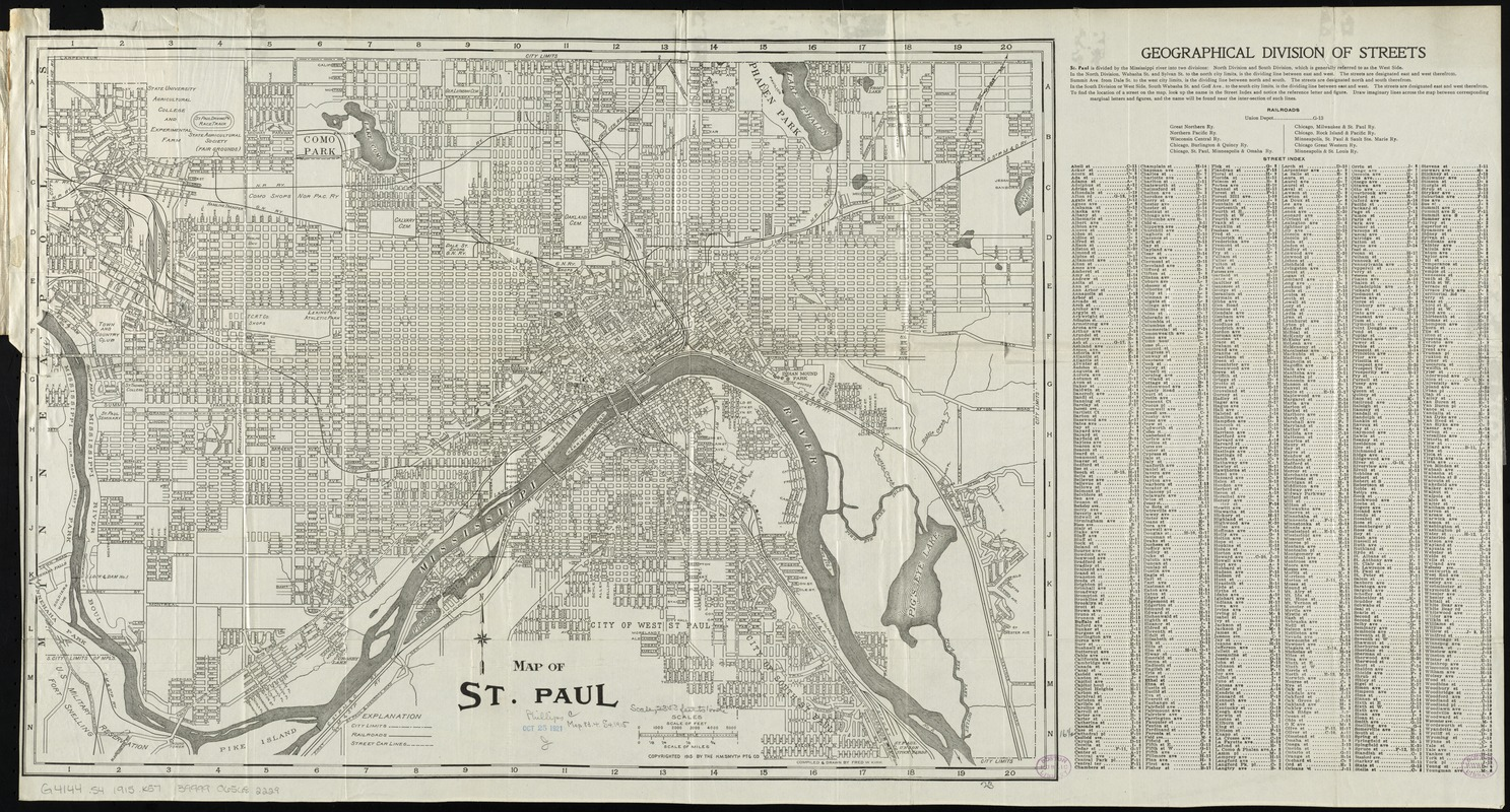 Map of St. Paul