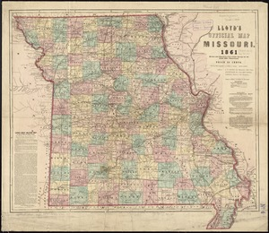 Lloyd's official map of Missouri