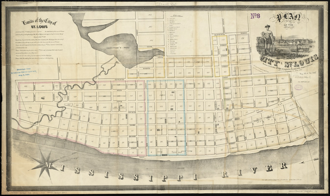 Plan of the city of St. Louis