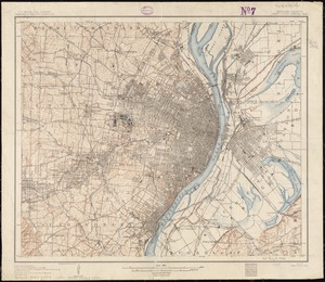 Missouri-Illinois, Saint Louis special map