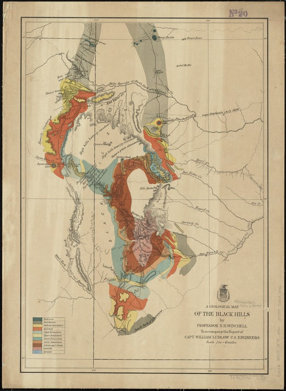 A geological map of the Black Hills