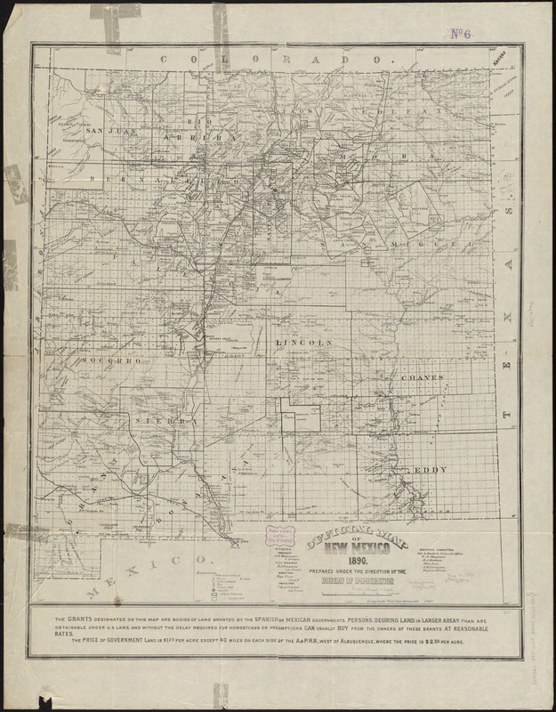 Official map of New Mexico