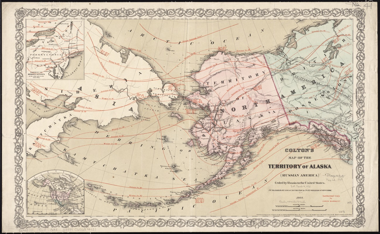 Colton's map of the territory of Alaska