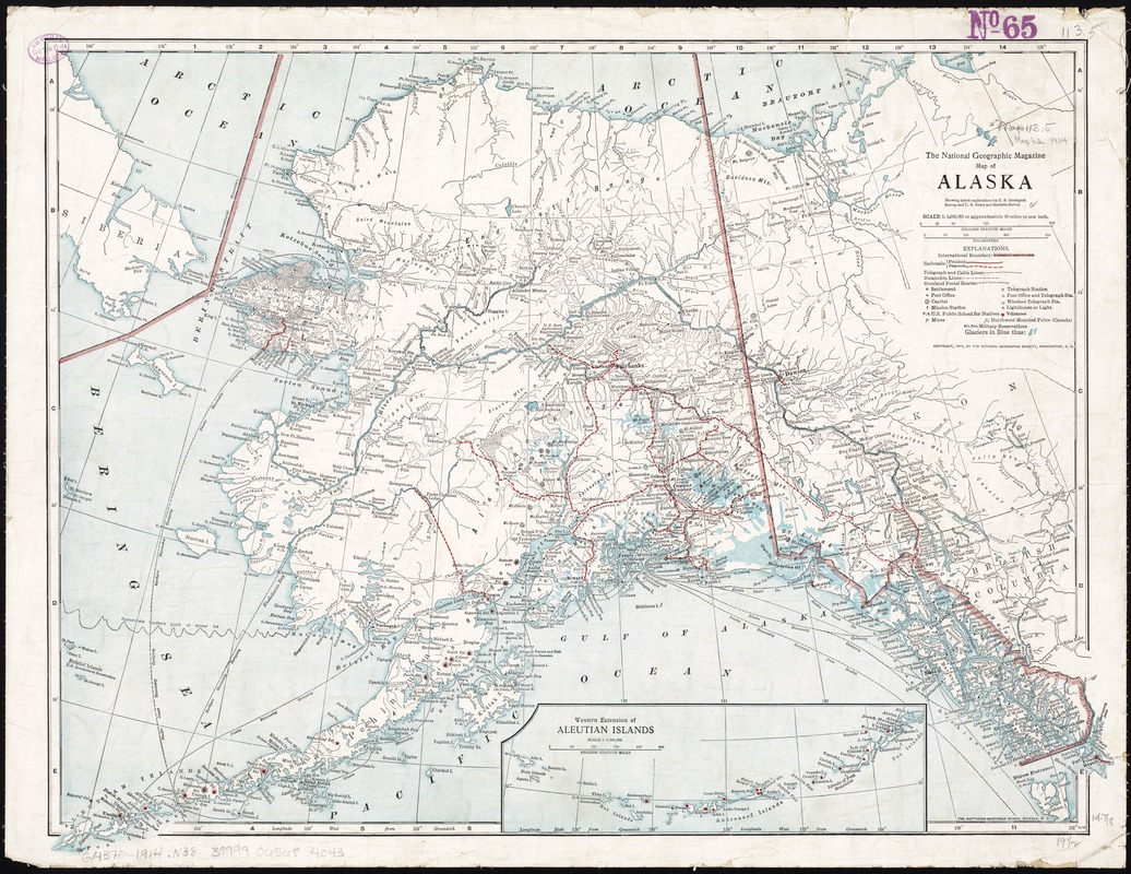 Map Of Alaska Digital Commonwealth - Us-geodetic-maps