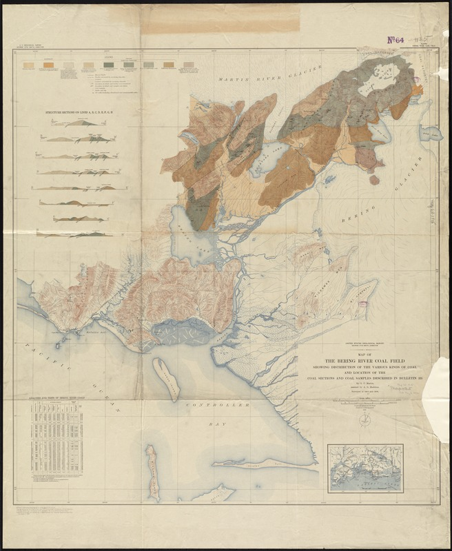 Map of the Bering River Coal Field