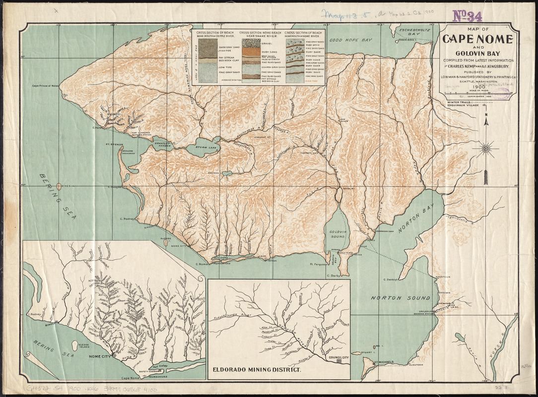 Map of Cape Nome and Golovin [sic] Bay