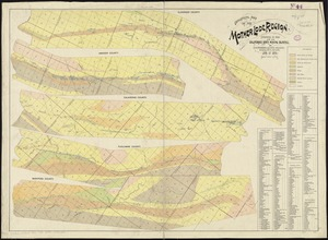 Geological map of the Mother Lode region