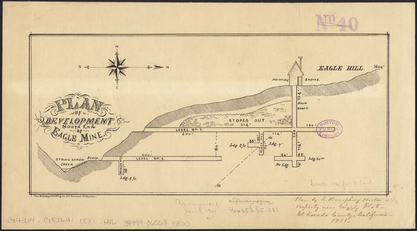 Plan of development, south end of Eagle Mine