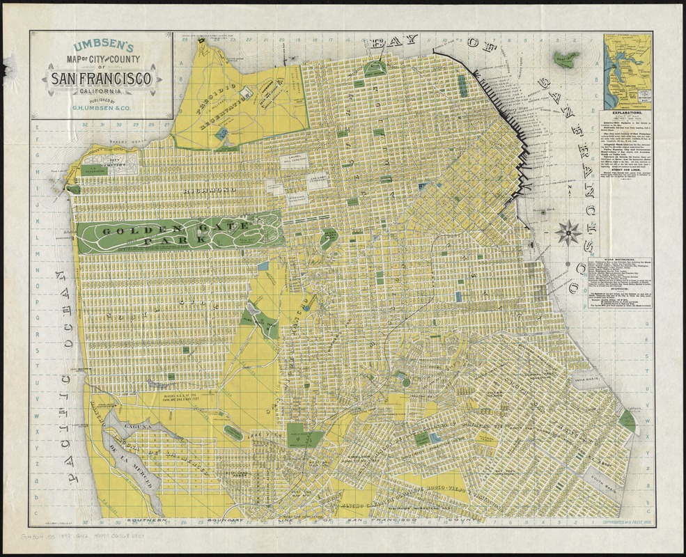 Umbsen's map of the City and County of San Francisco, California