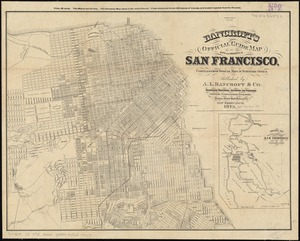 Bancroft's official guide map of city and county of San Francisco