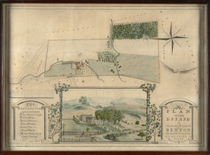 Plan of the estate of Stephen R. and Charles F. Benton, Richmond Township, Berkshire Co., state of Massachusetts