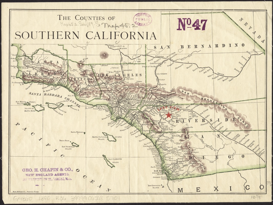 The counties of Southern California