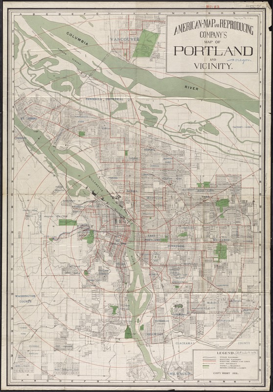 American Map and Reproducing Company\'s map of Portland and ...