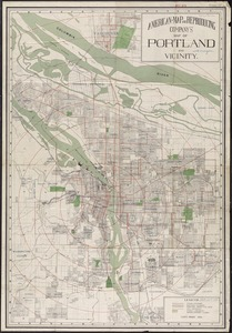 American Map and Reproducing Company's map of Portland and vicinity