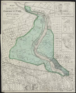 Map of farms and lots embraced within the limits of Fairmount Park as appropriated for public use by Act of Assembly, approved the 14th day of April, A.D. 1868