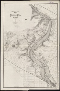 Topographical map of Fairmount Park, Philadelphia