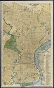 The Matthews-Northrup up-to-date map of Philadelphia, Pennsylvania