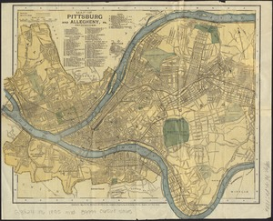 Map of Pittsburg and Allegheny, Pa