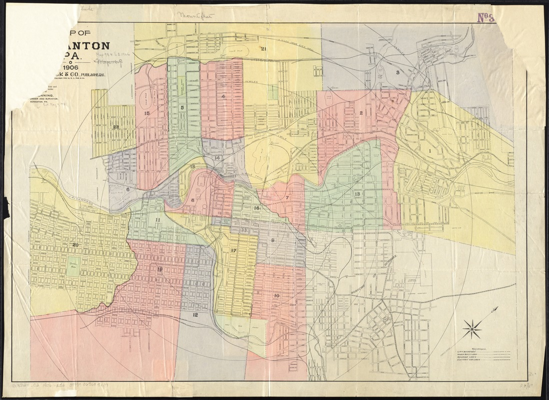 [Map of Scranton], Pa