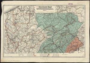 Military map of Pennsylvania