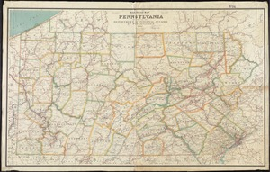 Rail road map of Pennsylvania