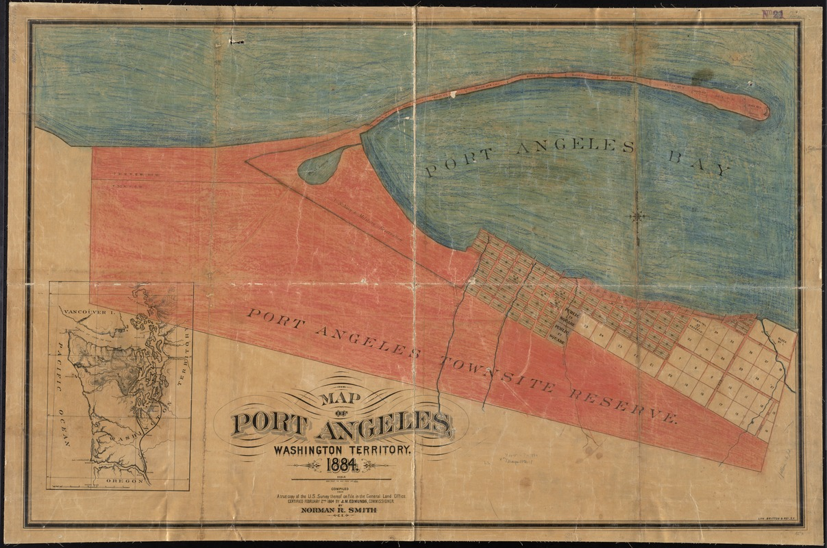 Map of Port Angeles, Washington Territory