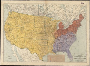 Hammond's comprehensive map of the United States with portions of Canada and Mexico
