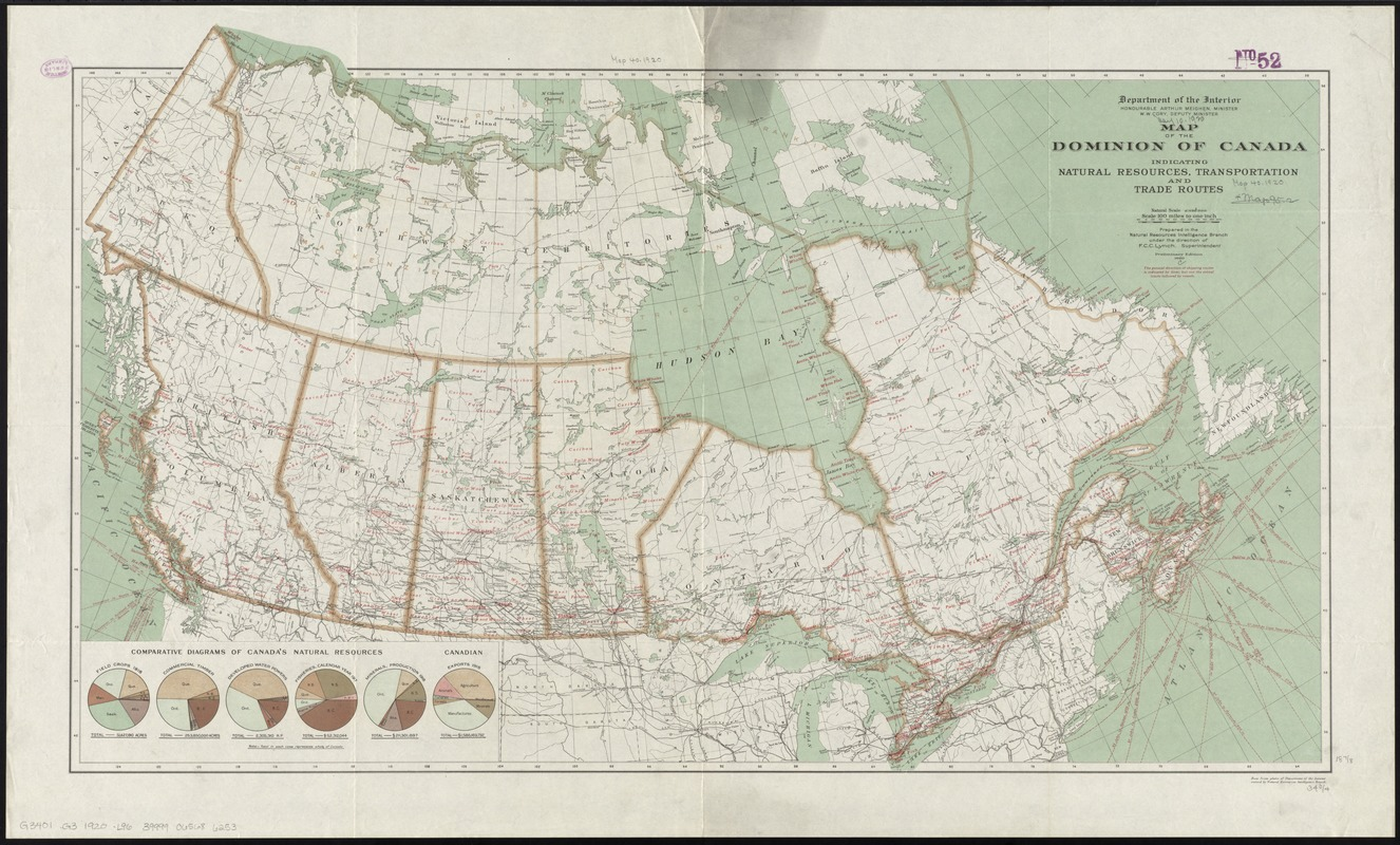 Map of the Dominion of Canada