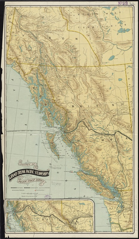 Routes of Grand Trunk Pacific Steamships