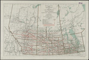 Map showing the land registration and judicial districts of Manitoba, Saskatchewan & Alberta