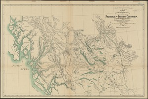 Map shewing exploratory surveys in the northern portion of the province of British Columbia