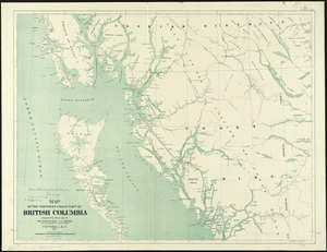 Map of the northern coast part of British Columbia