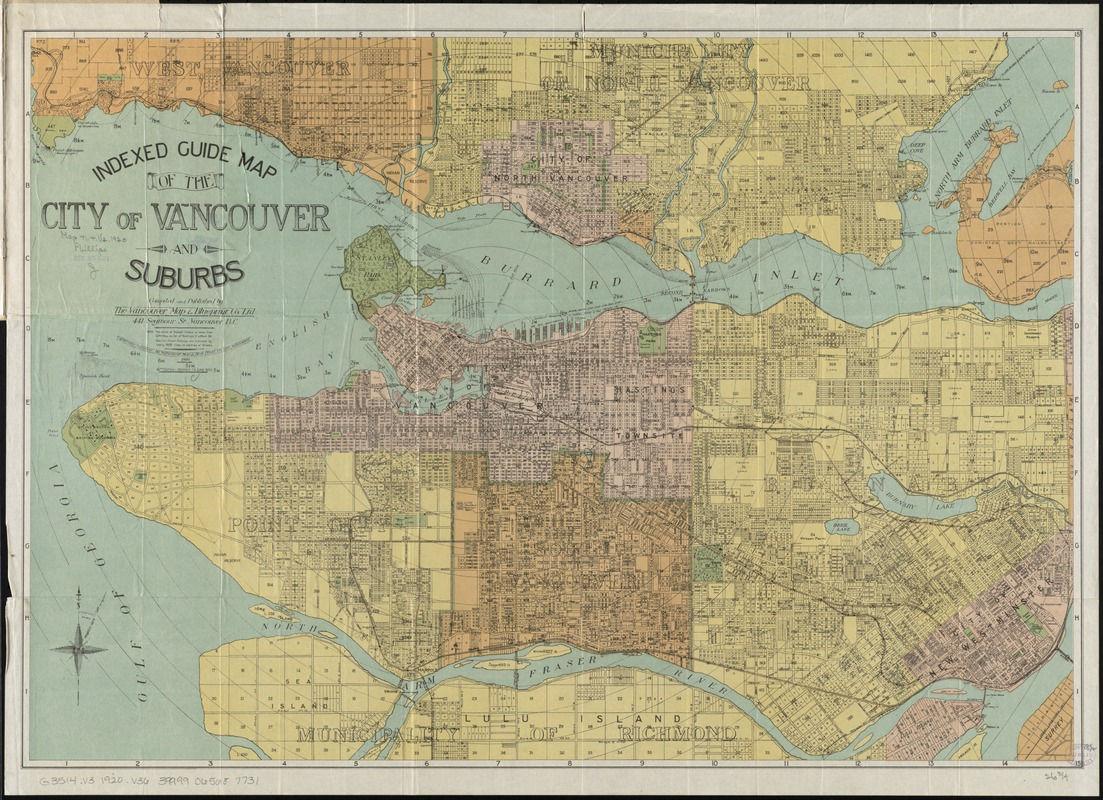 Indexed guide map of the city of Vancouver and suburbs - Digital ...