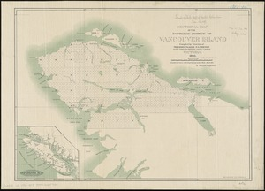 Sectional map of the northern portion of Vancouver Island