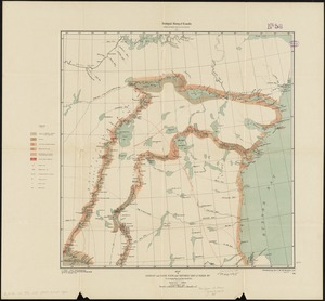 Map of Doobaunt and Kazan Rivers and northwest coast of Hudson Bay