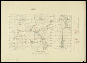 Plan and section, Lawrencetown gold district, Halifax County, N.S