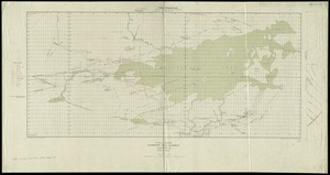 Plan and section, Leipsigate gold district, Lunenburg Co., Nova Scotia