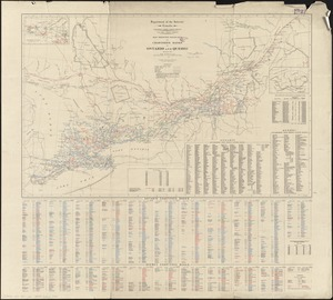 Map showing branches of chartered banks in Ontario and Quebec