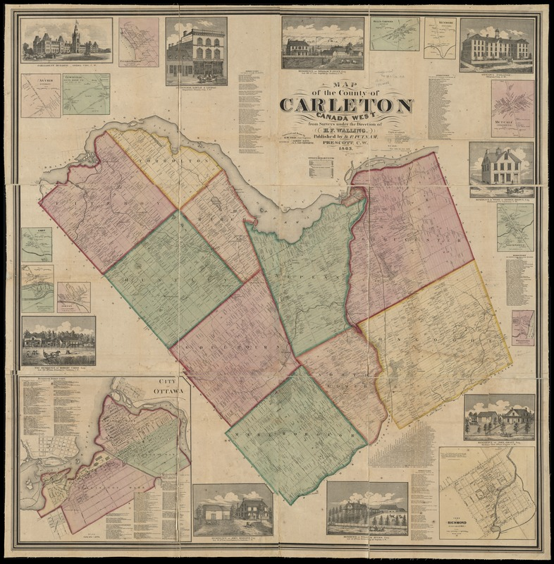 map of the county of carleton canada west