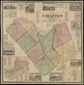 Map of the county of Carleton, Canada West