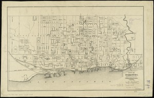 City of Toronto, reduced by permission from Wadsworth & Unwin's large map