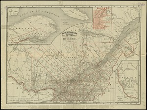 Rand, McNally & Co.'s indexed atlas of the world map of Quebec