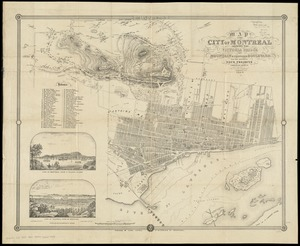 Map of the city of Montreal