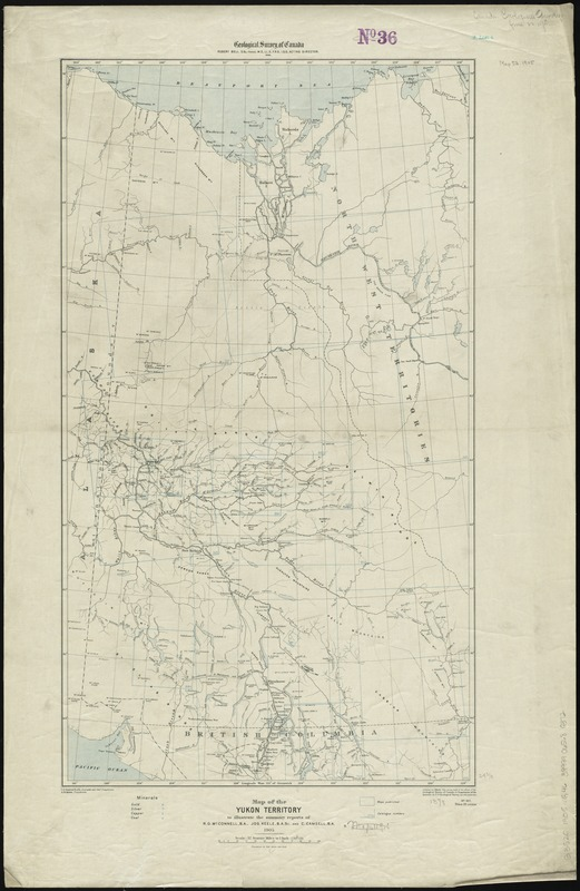 Map of the Yukon Territory to illustrate the summary reports of R.G. McConnell, B.A., Jos. Keele, B.A., and C. Camsell, B.A